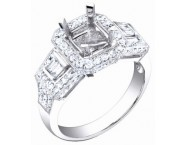 Diamond Semi Mount 18K White Gold 0.85 cts. S57-8