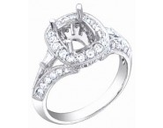 Diamond Semi Mount 18K White Gold 0.55 cts. S57-9