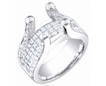 Diamond Semi Mount 18K White Gold 2.00 cts. S58-1