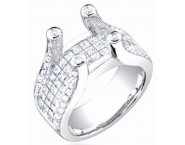 Diamond Semi Mount 18K White Gold 2.00 cts. S58-1 [S58-1]