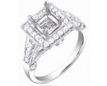 Diamond Semi Mount 18K White Gold 0.90 cts. S58-3
