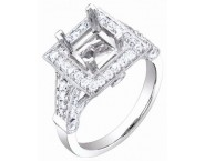 Diamond Semi Mount 18K White Gold 1.05 cts. S58-4 [S58-4]