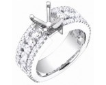 Diamond Semi Mount 18K White Gold 1.85 cts. S58-6