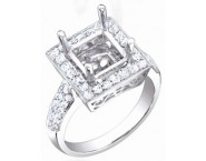 Diamond Semi Mount 18K White Gold 0.65 cts. S58-7