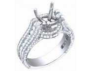 Diamond Semi Mount 18K White Gold 1.80 cts. S59-1