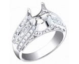 Diamond Semi Mount 18K White Gold 1.00 cts. S60-2