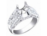 Diamond Semi Mount 18K White Gold 1.00 cts. S60-2 [S60-2]