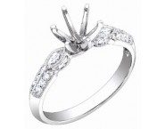 Diamond Semi Mount 18K White Gold 0.30 cts. S60-3