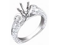 Diamond Semi Mount 18K White Gold 1.10 cts. S60-5 [S60-5]