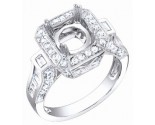 Diamond Semi Mount 18K White Gold 1.20 cts. S61-1