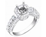 Diamond Semi Mount 18K White Gold 0.95 cts. S61-3