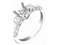 Diamond Semi Mount 18K White Gold 0.45 cts. S62-12