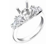 Diamond Semi Mount 18K White Gold 0.60 cts. S62-4