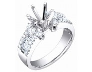 Diamond Semi Mount 18K White Gold 0.80 cts. S62-5