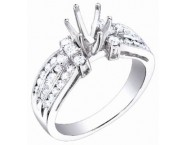 Diamond Semi Mount 18K White Gold 0.85 cts. S62-6 [S62-6]
