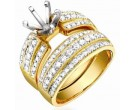 Diamond Two Piece Semi Mount 18K Yellow Gold 0.95 cts. S63-1