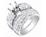 Diamond Two Piece Semi Mount 18K White Gold 2.00 cts. S63-2
