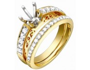 Diamond Two Piece Semi Mount 18K Yellow Gold 0.55 cts. S63-4 [S63-4]