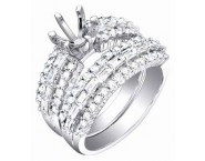 Diamond Two Piece Semi Mount 18K White Gold 1.55 cts. S63-6 [S63-6]