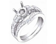 Diamond Two Piece Semi Mount 18K White Gold 0.60 cts. S63-8