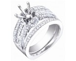 Diamond Two Piece Semi Mount 18K White Gold 0.85 cts. S63-9