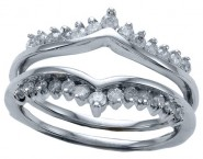Diamond Ring Enhancer 14K White Gold 0.50 cts CL-10145