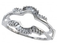 Diamond Ring Enhancer 14K White Gold 0.25 cts CL-14164