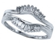 Diamond Ring Enhancer 14K White Gold 0.27 cts CL-14184