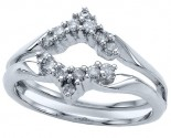 Diamond Ring Enhancer 14K White Gold 0.25 cts CL-14937