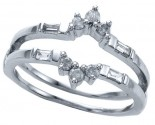 Diamond Ring Enhancer 14K White Gold 0.27 cts CL-26616