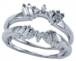 Diamond Ring Enhancer 14K White Gold 0.27 cts CL-26618