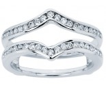 Diamond Ring Enhancer 14K White Gold 0.38 cts CL-34108