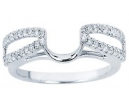 Diamond Ring Enhancer 14K White Gold 0.25 cts CL-34109