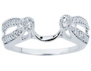 Diamond Ring Enhancer 14K White Gold 0.34 cts CL-34119