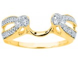 Diamond Ring Enhancer 14K Yellow Gold 0.34 cts CL-34119