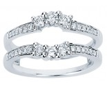 Diamond Ring Enhancer 14K White Gold 0.50 cts CL-34122