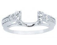 Diamond Ring Enhancer 14K White Gold 0.51 cts CL-34140 [CL-34140]