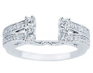 Diamond Ring Enhancer 14K White Gold 0.52 cts CL-34142