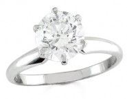 Diamond Solitaire Ring 14K White Gold 1.50 cts DSRR-0150