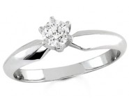 Diamond Solitaire Ring 14K White Gold 0.25 cts DSRR-025