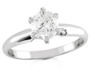 Diamond Solitaire Ring 14K White Gold 0.50 cts DSRR-050