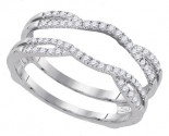 Diamond Solitaire Ring Enhancer 14K White Gold 0.33 cts GD-92818