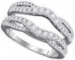 Diamond Ring Enhancer 14K White Gold 0.63 cts GD-98090
