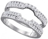 Diamond Ring Enhancer 14K White Gold 0.50 cts GD-98092