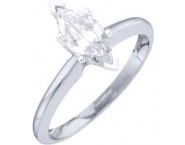 Diamond Solitaire Ring 14K White Gold 1.00 ct DSRM-0100