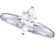 Diamond Solitaire Ring 14K White Gold 0.50 cts DSRM-050