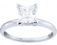 Diamond Solitaire Ring 14K White Gold 0.75 cts DSRP-075