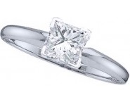 Diamond Solitaire Ring 14K White Gold 0.35 cts DSRP-035