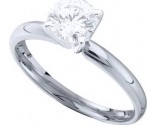 Diamond Solitaire Ring 14K White Gold 1.00 ct DSRR-0100