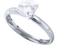 Diamond Solitaire Ring 14K White Gold 0.35 cts DSRR-035 [DSRR-035]